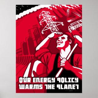 Global Warming Propaganda Parody Poster