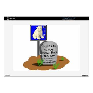 """Global Warming,RIP Polar Bear 2050 15"""" Laptop Skin"""