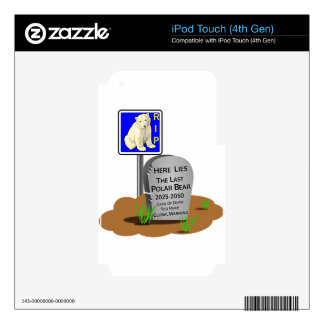 Global Warming,RIP Polar Bear 2050 Decal For iPod Touch 4G