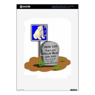 Global Warming,RIP Polar Bear 2050 iPad 3 Skin