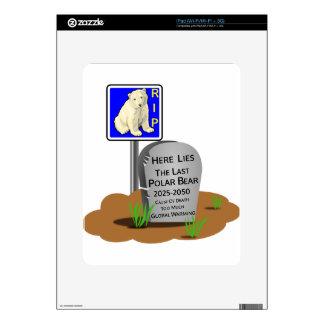 Global Warming,RIP Polar Bear 2050 Skin For iPad