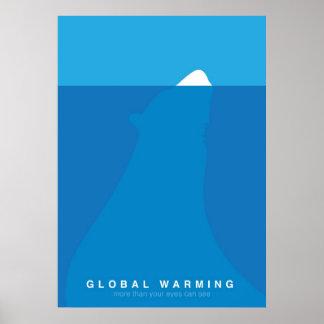 Global Warming Save the Polar Bear Poster