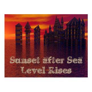 Global Warming Sea Level Rise Eco CricketDiane Postcard