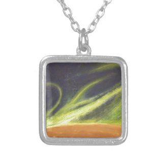 Global Warming Square Pendant Necklace