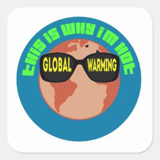 Global Warming Square Sticker