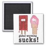 Global Warming Sucks! 2 Inch Square Magnet