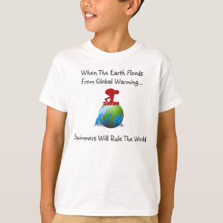 GLOBAL WARMING SWIMMER YOUTH T-SHIRT