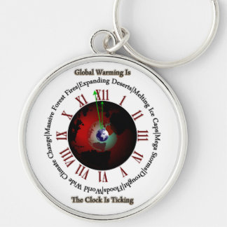 Global Warming - Time Is Running Out Keychain
