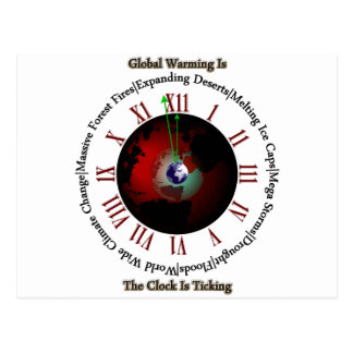 Global Warming - Time Is Running Out Postcard