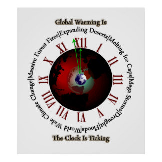 Global Warming - Time Is Running Out Wall Poster
