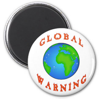 global warning 2 inch round magnet