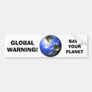 GLOBAL WARNING BUMPER STICKER