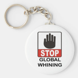 GLOBAL WHINING.jpg Basic Round Button Keychain