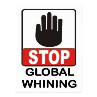 GLOBAL WHINING.jpg Postcard
