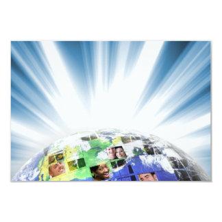 Global Worldwide Network of People Card