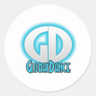 GlobalDance Round Stickers