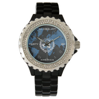 Globalist Party – Time for World Domination Wristwatch