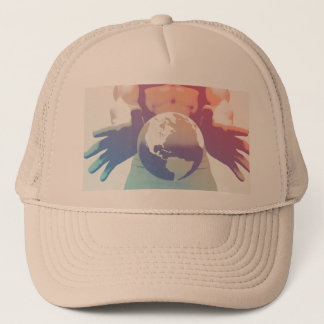 Globalization and a Global Company with Hands Trucker Hat