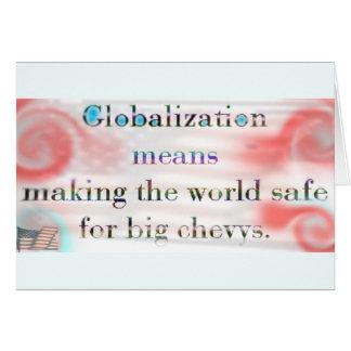 Globalization by USA (card) Greeting Card