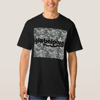 globalplug Black Tee Men Army Digital Design