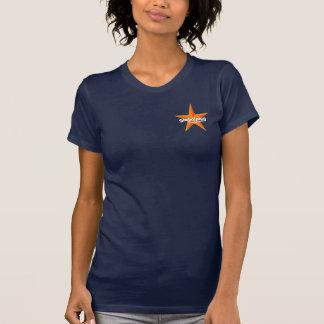 globalplug Navy tee womens Orange star design