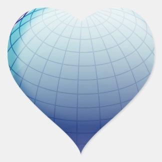 Globe_1_Vector_Clipart Heart Sticker