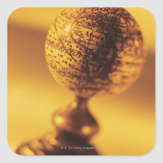 Globe 2 square sticker