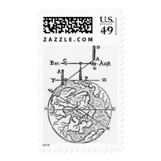 Globe 3 postage stamp