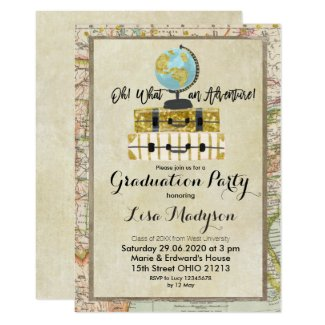 GLOBE Adventure Graduation Party Invite