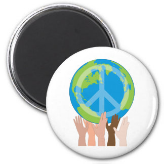 Globe and Hands Magnet