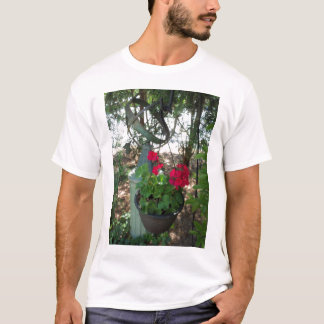 Globe and Red Geraniums T-Shirt