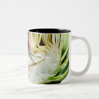 Globe artichoke half cut out coffee mug