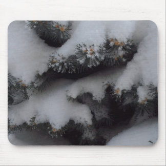 Globe blue spruce winter mouse pad
