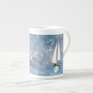 Globe Boat Logo Tea Cup