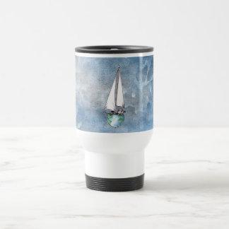 Globe Boat Logo Travel Mug