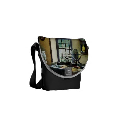 Globe, Books and Lamps Commuter Bag