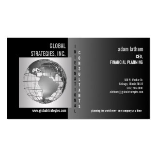 globe business consulting business card