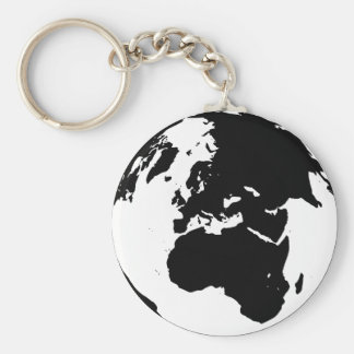 Globe by Leslie Peppers Keychain