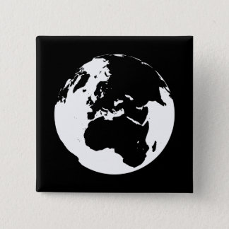 Globe by Leslie Peppers Pinback Button