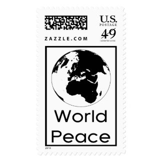Globe by Leslie Peppers Postage