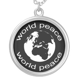 Globe by Leslie Peppers Silver Plated Necklace