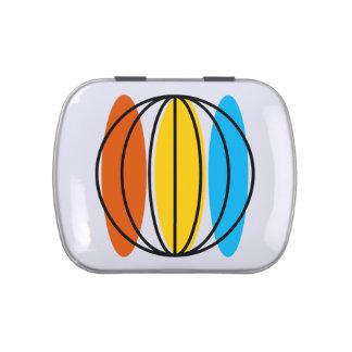 Globe candy tin