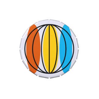 Globe candy tin round