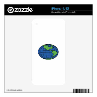 Globe Decals For The iPhone 4S