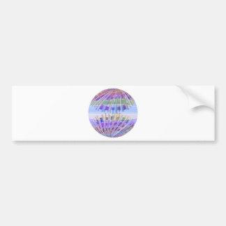 GLOBE Earth :  Holy Purple Light Show Car Bumper Sticker