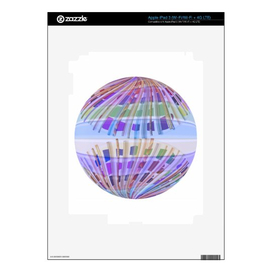 GLOBE Earth :  Holy Purple Light Show iPad 3 Skin