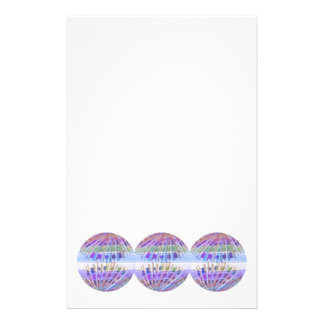 GLOBE Earth Holy Purple Light Show Personalized Stationery