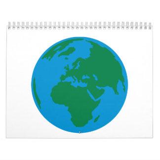 Globe Earth World Calendar
