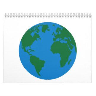 Globe Earth World map Calendar