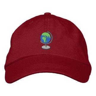 Globe Embroidered Baseball Hat